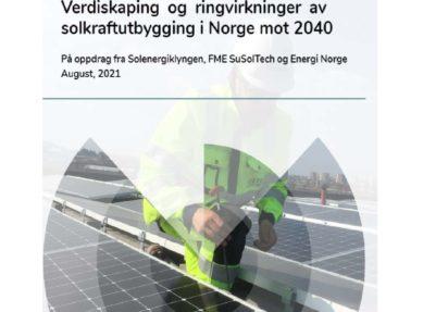 Ny rapport om verdiskapning og ringvirkninger i Norge mot 2040